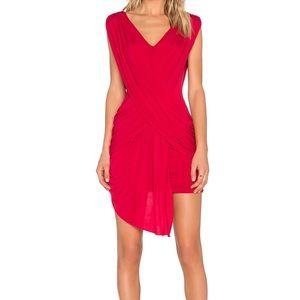 """BCBGMAXAZRIA Red Draped """"Elize"""" Dress - Size M"""